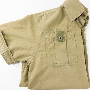 Tommy Hilfiger Army Style Boys Button Up Shirt